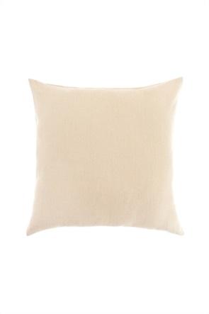 Coincasa διακοσμητικό λινό μαξιλάρι μονόχρωμο 45 x 45 cm