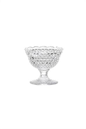 Coincasa γυάλινο μπολ φαγητού με diamond-cut effect 9 x 8 cm