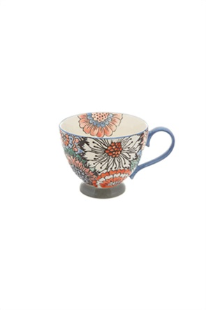 Coincasa φλυτζάνι με χειροποίητο floral σχέδιο 9 x 12 cm