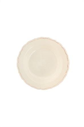"Coincasa κεραμικό πιάτο βαθύ με ανάγλυφο σχέδιο ""Dona Maria"" 23 cm"