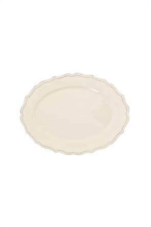 "Coincasa κεραμικό πιάτο σερβιρίσματος με ανάγλυφο σχέδιο ""Dona Maria"" 25 x 35 cm"