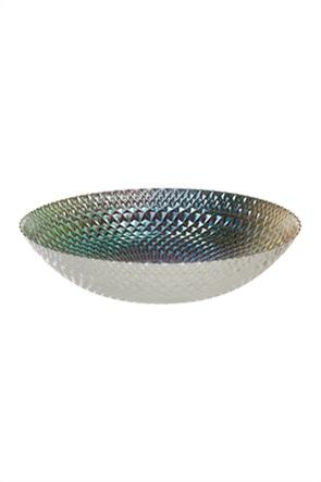 Coincasa γυάλινη μπολιέρα σερβιρίσματος με χρωματισμένο γυαλί 34 cm