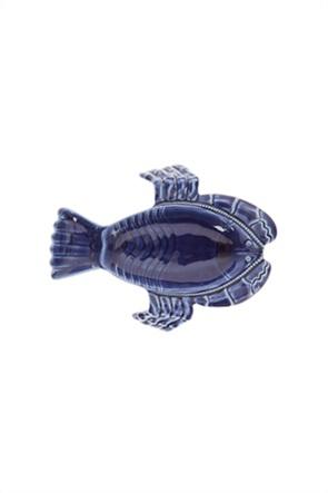 Coincasa πορσελάνινη πιατέλα σερβιρίσματος σε σχήμα αστακού 22 x 29 cm
