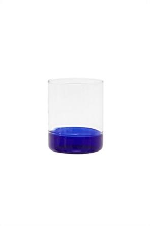 Coincasa γυάλινο ποτήρι με χρωματισμένη βάση 8,5 x 10 cm