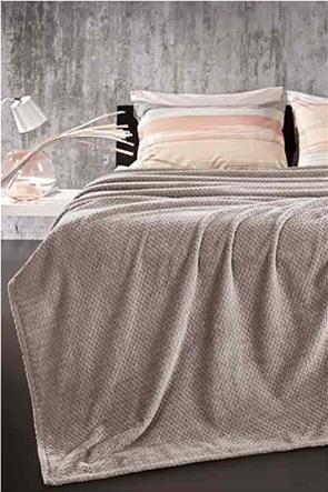 Guy Laroche fleece κουβέρτα μονή ''Rombus Wenge'' 160 χ 220 cm