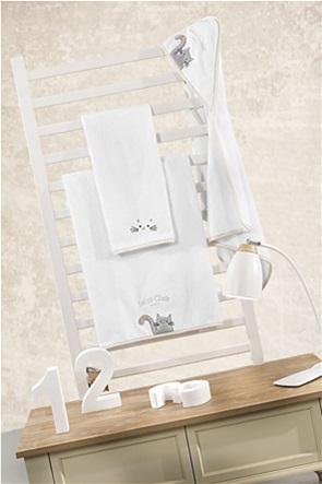 Guy Laroche σετ βρεφικές πετσέτες με κεντημένο σχέδιο ''Saint Clair'' (2 τεμάχια)