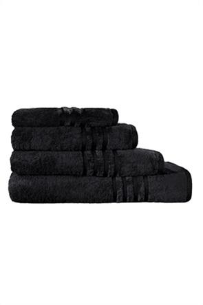 Guy Laroche πετσέτα προσώπου με ανάγλυφο σχέδιο ''Bonus Black'' 50 x 90 cm