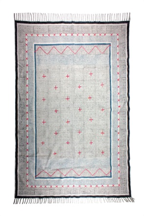 Synchronia διακοσμητικό xαλί με κεντημένους σταυρούς 150 x 210 cm