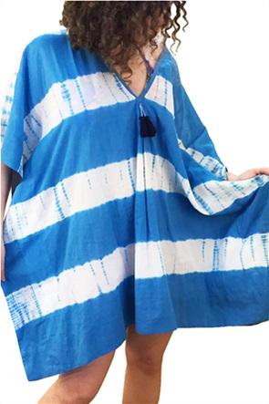 "Synchronia γυναικείο καφτάνι με tie-dye print ""Blaire"""