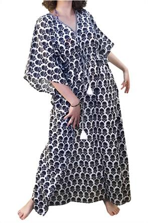 "Synchronia γυναικείο καφτάνι με graphic print ""Nyla"""
