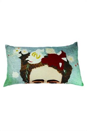 """Synchronia διακοσμητικό βελούδινο μαξιλάρι με λουλούδια """"Frida"""" 35 x 65 cm"""