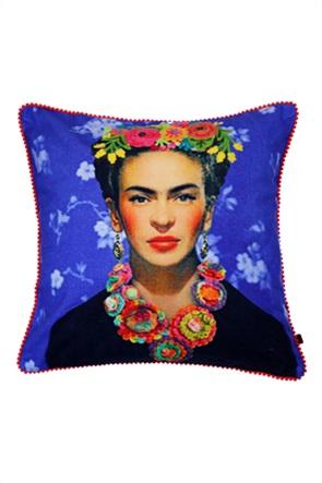 """Synchronia διακοσμητικό μαξιλάρι με κεντημένο σχέδιο """"Frida"""" 45 x 45 cm"""