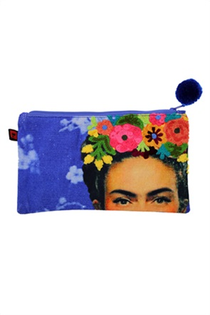 Synchronia γυναικείo νεσεσέρ με κεντημένο σχέδιο Frida Kahlo