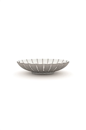 "Guzzini στρογγυλή πιατέλα με ανάγλυφο σχέδιο ""Grace"" 30 x 37 cm"