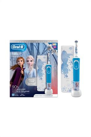 Βraun Σετ Επαναφορτιζόμενη Ηλεκτρική Οδοντόβουρτσα Και Δώρο Θήκη Ταξιδίου Oral-B Vitality Kids Frozen Special Edition