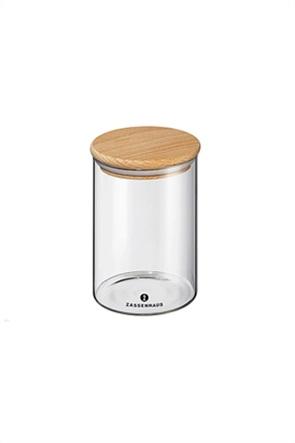 Zassenhaus δοχείο αποθήκευσης τροφίμων με ξύλινο καπάκι 850 ml