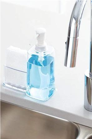 Interdesign δοχείο υγρού σαπουνιού με θήκη για σφουγγάρι ''Vella'' 473 ml