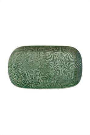 Maxwell & Williams πιατέλα σερβιρίσματος με leaf print ''Kiwi Panama'' 39 χ 23 cm