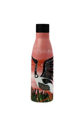 """Maxwell & Williams ανοξείδωτο θερμομονωτικό μπουκάλι Melanie Hava Jugaig-Bana-Wabu """"Jabirus Pink"""" 500 ml"""