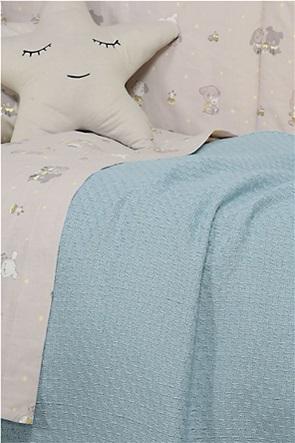 "NEF-NEF βρεφική κουβέρτα κούνιας πλεκτή ""Smooth Blue"" 110 x 150 cm"