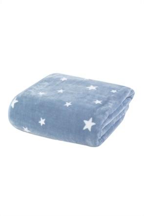 "NEF-NEF βρεφική κουβέρτα αγκαλιάς με all-over print stars ""Stellar"" 75 x 100 cm"