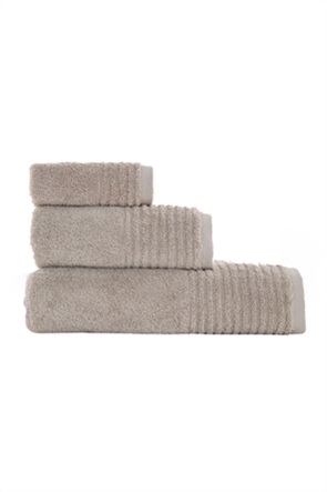 "NEF-NEF πετσέτα προσώπου με ανάγλυφο ριγέ τελείωμα ""Organic 640"" 50 x 100 cm"