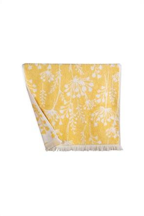 "NEF-NEF πετσέτα μπάνιου με floral print και κρόσσια ""Poetry"" 70 x 140 cm"