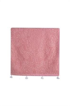 "NEF-NEF πετσέτα μπάνιου με μπροκάρ σχέδια και φουντίτσες ""Toscana"" 70 x 140 cm"
