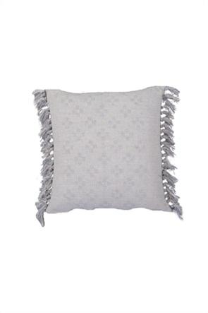 """NEF-NEF διακοσμητικό μαξιλάρι με γεωμετρικά κεντήματα και κρόσσια """"Awesome"""" 45 x 45 cm"""