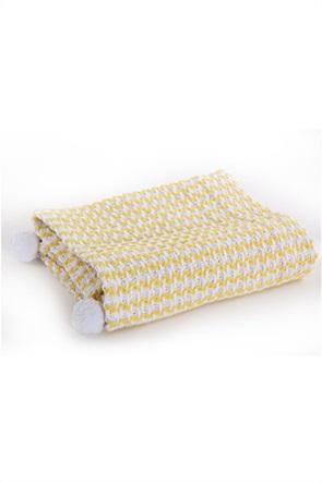 NEF-NEF βρεφική κουβέρτα αγκαλιάς με διακοσμητικά pom-pon ''Sometime'' 80 χ 110 cm
