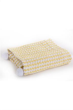 NEF-NEF βρεφική κουβέρτα αγκαλιάς με διακοσμητικά pom-pon ''Sometime'' 110 x 150 cm