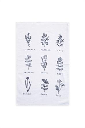 "NEF-NEF πετσέτα κουζίνας με floral print ""Herbs"" 40 x 60 cm"