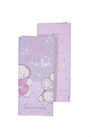 """NEF-NEF σετ βρεφικά σεντόνια λίκνου με graphic print """"Forever Friends Little Things"""" (2 τεμάχια)"""
