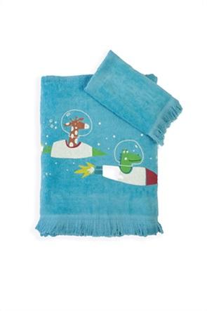 "NEF-NEF σετ παιδικές πετσέτες ""Space Zoo"" (2 τεμάχια)"
