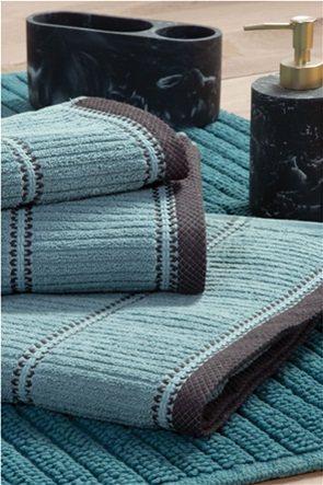 "NEF-NEF πετσέτα μπάνιου με ανάγλυφο ριγέ σχέδιο ""Genesis"" 70 x 140 cm"