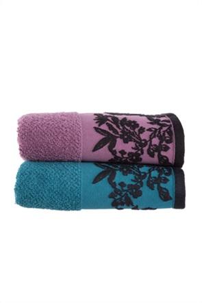 "NEF-NEF πετσέτα μπάνιου με ανάγλυφο floral print ""Salvia"" 70 x 140 cm"