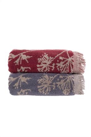 "NEF-NEF πετσέτα προσώπου με print και κρόσσια ""Charm"" 50 x 90 cm"