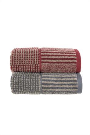 "NEF-NEF πετσέτα προσώπου με ριγέ και καρό σχέδιο ""Easton"" 50 x 90 cm"