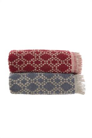 "NEF-NEF πετσέτα προσώπου με print και κρόσσια ""Caden"" 50 x 90 cm"