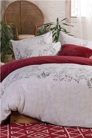 "NEF-NEF σετ παπλωματοθήκη υπέρδιπλη με floral print ""Salvia"" (3 τεμάχια)"