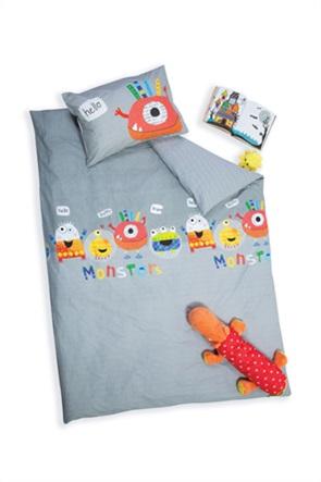 "NEF-NEF σετ παιδικά σεντόνια μονά με print ""Hello Monsters"" (3 τεμάχια)"