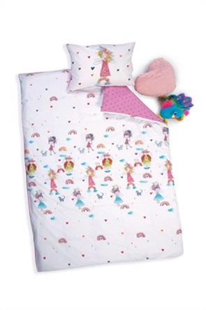 "NEF-NEF σετ παιδικά σεντόνια μονά με graphic print ""Rainbow Girls"" (3 τεμάχια)"