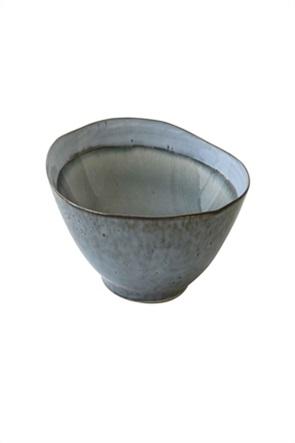 Marva πιάτο σούπας κεραμικό  με τεχνική κρακελέ 19 cm