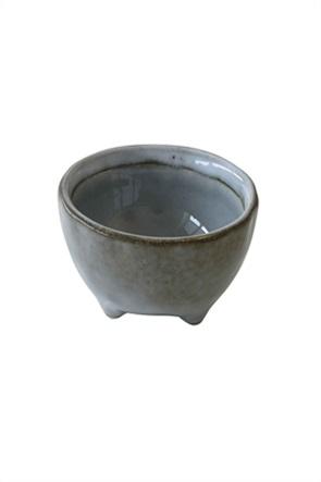 Marva μπολ φαγητού κεραμικό με τεχνική κρακελέ 11 χ 6 cm