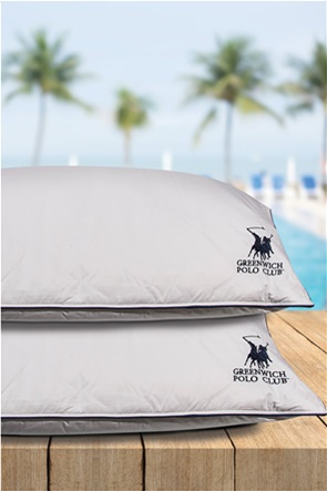 """Greenwich Polo Club μαξιλάρι πουπουλένιο """"2304"""" 50 x 70 cm"""