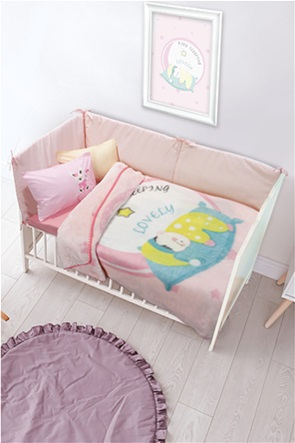 "Das kids παιδική κουβέρτα velour ""6561 Relax"" 110 x 140 cm"