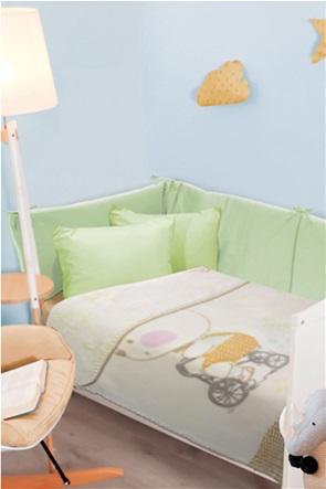 "Das kids βρεφική κουβέρτα βελουτέ ""6593 Relax"" 110 x 140 cm"