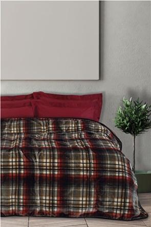 """Das home βελουτέ κουβέρτα υπέρδιπλη καρό """"0451"""" 220 x 240 cm"""