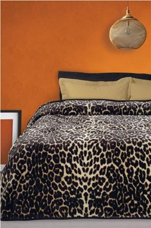 "Das home βελουτέ κουβέρτα υπέρδιπλη με animal print ""0452"" 220 x 240 cm"