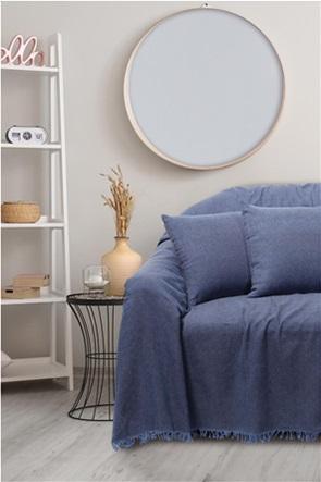 "Das home ριχτάρι διθέσιου καναπέ με κρόσσια ""0211"" 180 x 250 cm"